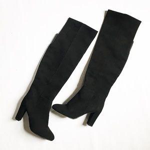 Halogen Shoes - NWOT Halogen Black Suede Over the Knee Boots